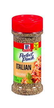 Bottle of McCormick Perfect Pinch Italian Seasoning